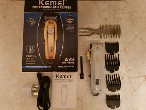All metal Barber Professional Hair Clipper Electric-Cordless LCD Trimmer Silver