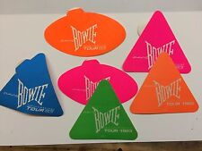 David Bowie backstage Day-Glo sticker 1983 Serious Moonlight tour Genuine!