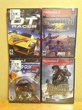 Playstation PS2 - Four New Games - DT Racer, Socom, Top Gun & MOH Frontline