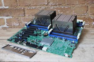 SuperMicro X9DRH-iF 2 Socket LGA2011 Server Motherboard, Heatsinks and Backplate