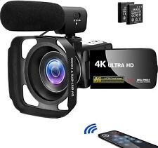 Video Camera Camcorder, Vlogging for YouTube 4K UHD 30MP 18X V14NN