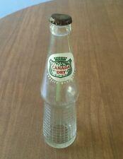 Vintage Canada Dry Glass Soda Bottle, 1956