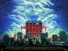 "FRIGHT NIGHT II 1988 repro UK quad poster 30x40"" Roddy McDowall Tom Holland"