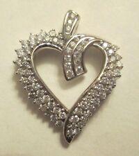 14K  Gold Diamond Heart  Pendant  Dia=2.00 Carats F-VS2  26X20 mm Value=$3,850