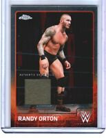 WWE Randy Orton 2015 Topps Chrome Event Used Shirt Relic Card Grey