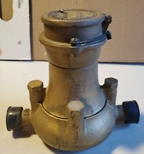 Vintage Neptune Trident Brass Meter housing never used Steampunk made in Usa