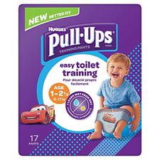 Huggies Pull Ups Day Time Potty Training Pants Boys 1-2.5 Years 8-17kg 17 Pants