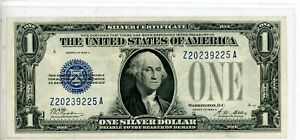 1928 A $1 Silver Certificate,Funny Back Note,Blue Seal #9225