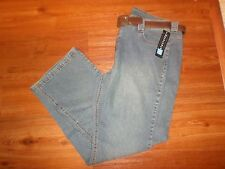 NEW RELATIVITY COWGIRL MODERN FIT BOOT CUT JEANS WITH BROWN BELT SIZE 16