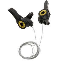 1 Pair 3x5/6/7 Speed MTB Bike Thumb Gear Shifter Top Mount Shift Brake