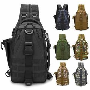 Fishing Tackle Backpack Storage Bag Fishing Backpack with Rod Holder Shoulder US