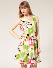 ASOS Pearl Floral Cotton Prom Dress Size M/L