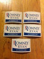 5 Official Governor Mitt Romney For President & Paul Ryan Rectangular Stickers