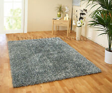 Spider Shaggy Flair Rugs Thick Super Soft Hard Wearing Deep Pile Oblong Rug Silver 70 X 140 Cm
