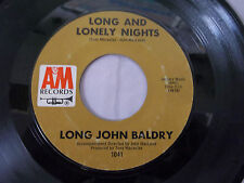 """Long John Baldry """"Long and Lonely Nights"""" & """"It's Too Late Now"""" 45 RPM 7"""" Used"""
