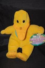 "Peek-N-Baby Gigo Baby Yellow Duck Costume Green Bow Tie 8"" Plush Stuffed Toy NWT"