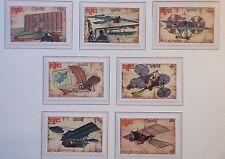 1987 Conjunto de Aviones Experimentales Kampuchea y Mini Hoja. estampillada sin montar o nunca montada