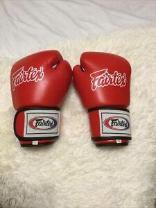 Fairtex Red Boxing / Kickboxing Gloves 10oz