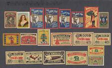 20x Czechoslovakian Export Matchbox Labels from 1918-1945