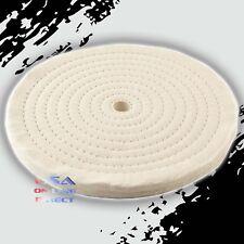 """8"""" Spiral Sewn Stitch Cotton Buffing Wheels, Metal Polishing Buff Pads Jewelry"""
