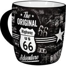 NOSTALGIE Kaffeetasse ROUTE 66 ADVENTURE aus Keramik Kaffeepott -becher NEU OVP