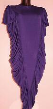 Robe vintage bleu violet drapée Taille 38 Bon état
