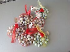 Vintage 90S# 6 Pocket Of white Classic Glass Marble Marbles 6 Reti Biglie Gig