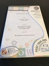 Baby Shower Invitations & Envelopes Wilton Print Your Own Bugs Pastel Colors
