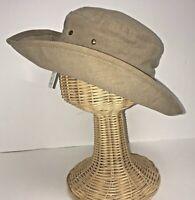 Original Sport Buddy Hat Khaki UPF50+ Size Small Golf Fishing Packable  Sun