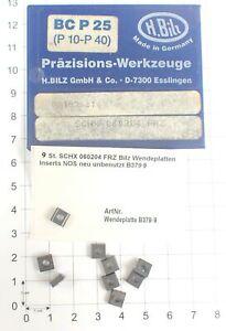 9 St. SCHX 060204 FRZ Bilz Wendeplatten Inserts NOS neu unbenutzt B379-9