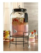 Franklin Beverage Drink Dispenser glass 3 Gallon with Tag Indoor Outdoor mason