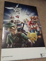 Super Smash Bros. Brawl 15.5''x11.5'' Nintendo Power Double Sided Poster