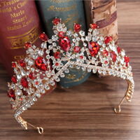 6cm High 6 Colors Drip Crystal Wedding Bridal Party Pageant Prom Tiara Crown