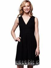 205e73b3085 YUMI Black Floral Hemline Sleeveless Dress - Size  14