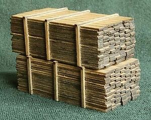 """GC LASER HO SCALE LUMBER LOAD 3""""X12""""X14' 2/ 