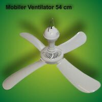 Ventilatore da Soffitto,54 CM Mobile Ventilatore Air-Cooler Ventola 12 Watt.