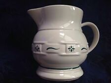 Longaberger Pottery Heritage Green Woven Traditions, 2 Qt Pitcher, Made In Usa