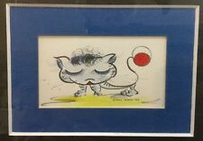 Original Vintage CUTE CAT Watercolor ~ ARDIS STURDY ~ Disney Artist c. 1969