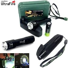 Tactical 20000LM  T6 LED Flashlight Zoomable LED Flashlamp+18650+Charger+Case