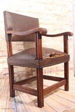 Antiker Jugendstil Herrenstuhl Schreibtischstuhl Armlehnstuhl Lederstuhl