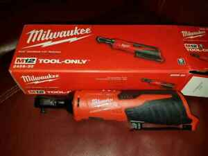 """Milwaukee 2456-20 M12 1/4"""" Drive Cordless Ratchet (Tool Only) 12V Brand New 2018"""