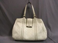 Auth GUCCI Guccissima 233609 Ivory Leather Tote Bag