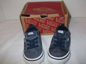 VANS OFF THE WALL TODDLER SHOES 4.5 T CHAMBRAY
