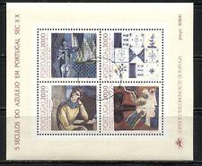 PORTUGAL 1985, ART: CERAMICS, TILES, Scott 1620b SOUVENIR SHEET, VERY FINE USED