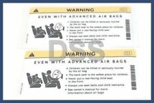 Genuine Mercedes Sun Visor Air Sticker Warning Benz OEM Set of (2) 2218171220