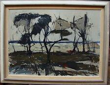Torgny Forsberg * 1920, arbres près du lac dans fahlem lumière, pour 1960