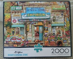 Puzzle Browns General Store Aimee Stewart Buffalo 2000 Pieces 38 by 26 Poster