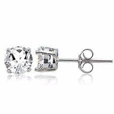 925 Sterling Silver 2ct White Topaz Stud Earrings