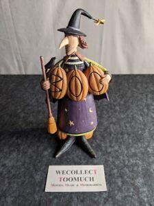 Williraye Studio Halloween WW6152 'Boo-Witched' Pumpkin Witch Folk Art Figure