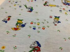 "Vintage Disney Fabric Crafts Snow White & the Dwarfs T-Shirt Material 35"" x 56"""